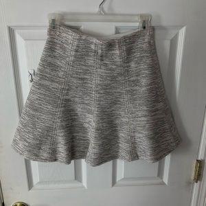 Ann Taylor LOFT: Black/White Peppered Skater Skirt